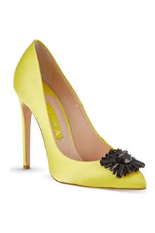GINA Isla satin court shoes
