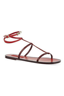 VALENTINO Rouge signature flat sandals