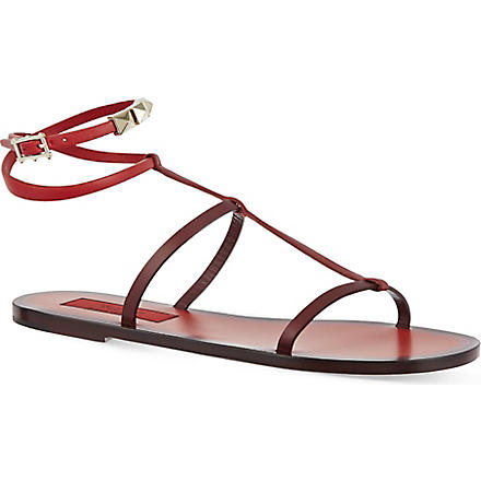 VALENTINO Rouge signature flat sandals (Red