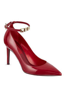 VALENTINO Patent leather courts with stud detail
