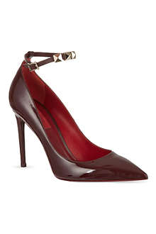VALENTINO Patent studded courts