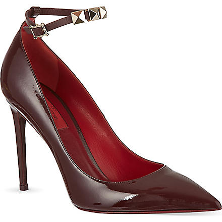 VALENTINO Patent studded courts (Red