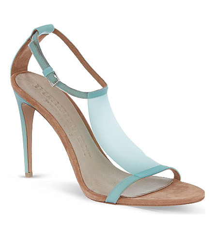 BURBERRY Taylor t-bar sandals (Turquoise