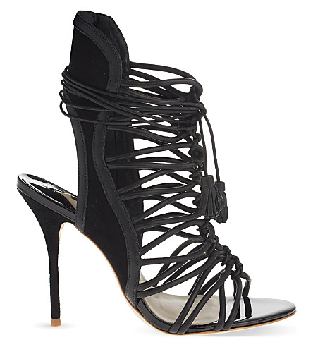 SOPHIA WEBSTER Lacey leather heeled sandals (Black