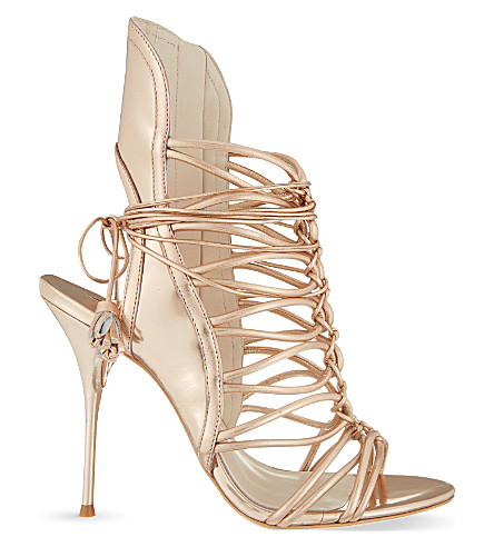 SOPHIA WEBSTER Lacey heeled sandals (Gold