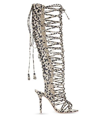 SOPHIA WEBSTER Clementine knee-length gladiator sandals (Nude
