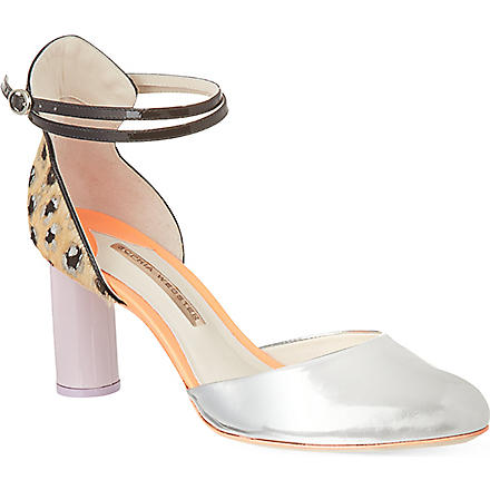 SOPHIA WEBSTER Nika court shoes (Silver