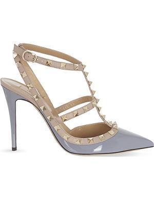 VALENTINO Rockstud two-tone t-bar heels