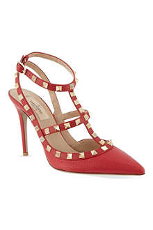 VALENTINO Rockstud leather courts