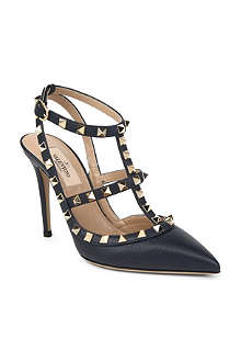 VALENTINO Rockstud 100 leather pumps