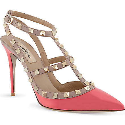 VALENTINO Rockstud patent leather heels (Pink