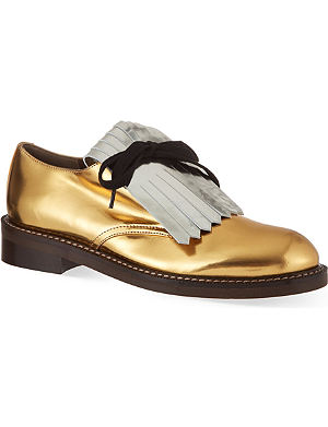 MARNI On the Fringe leather Derby shoes