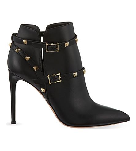 VALENTINO Rockstud 100 ankle boots (Black