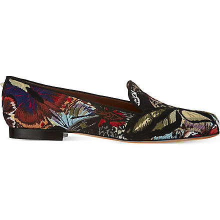 VALENTINO Camu butterfly slippers (Blk/other