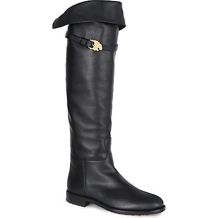 VALENTINO Animalia knee-high boots (Black
