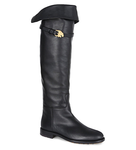 VALENTINO Animalia knee-high boots (Black