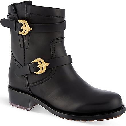 VALENTINO Animalia leather boot (Black
