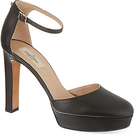 VALENTINO Leather courts (Black