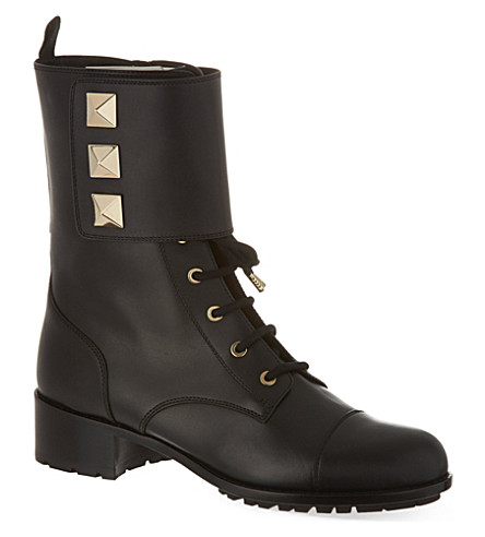 VALENTINO Combat boots with studs (Black