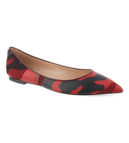 VALENTINO Camouflage leather pumps (Red/other