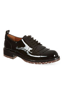 VALENTINO Patent leather brogues