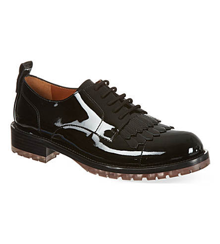 VALENTINO Patent leather brogues (Black