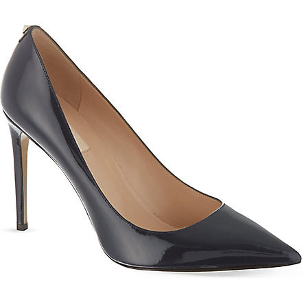 VALENTINO Patent leather courts with stud detail (Navy