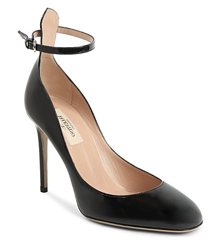 VALENTINO Tan Go 60 leather pumps (Black