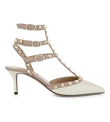 VALENTINO Rockstud 65 leather courts (Winter+wht