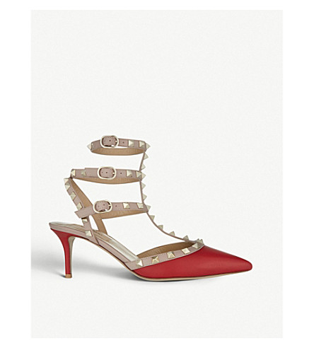 VALENTINO Rockstud 65 leather courts (Red