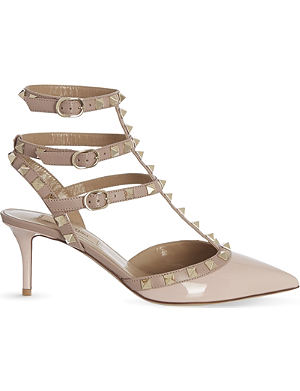VALENTINO Rockstud 65 patent-leather heeled courts