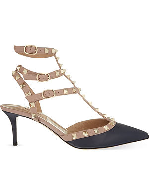 VALENTINO Rockstud 65 leather heeled courts