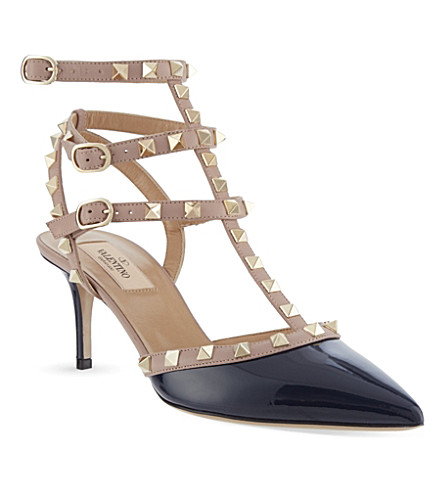 VALENTINO Rockstud 65 patent-leather courts