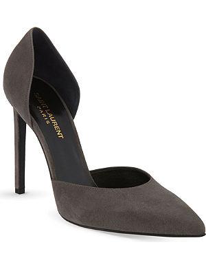 SAINT LAURENT Paris d'orsay suede pointed heels