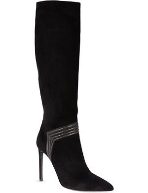 SAINT LAURENT Paris heeled knee-high boots