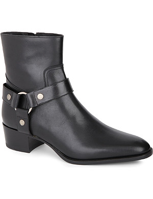 SAINT LAURENT Wyatt ankle strap boots