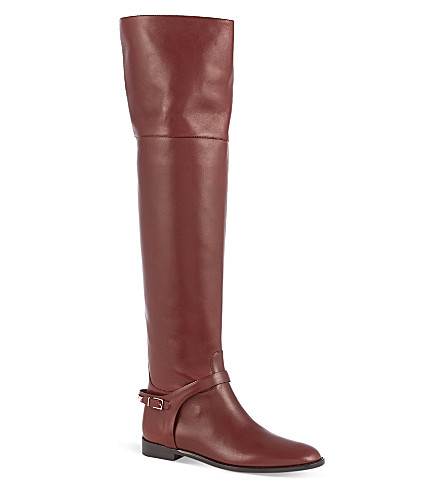 BURBERRY Carmack knee high boots (Wine