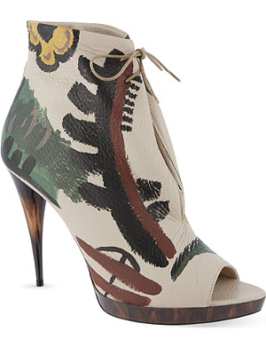 BURBERRY Jenkin leather heeled shoes