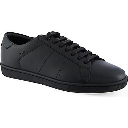 SAINT LAURENT Court classic sneakers in black leather (Black