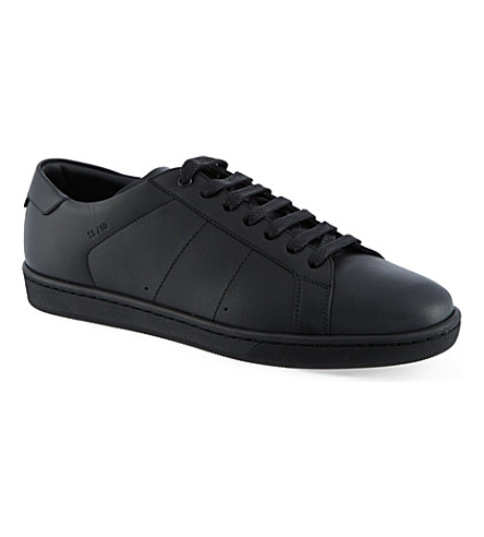SAINT LAURENT Court classic sneakers in black leather (Black