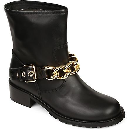 GIUSEPPE ZANOTTI Leather biker boots (Black