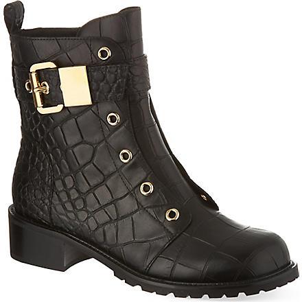 GIUSEPPE ZANOTTI Riverside leather boots (Black