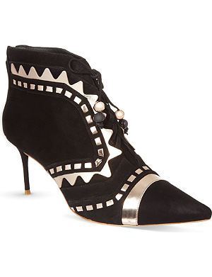 SOPHIA WEBSTER Riko heeled suede ankle boots