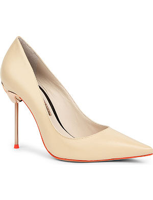 SOPHIA WEBSTER Coco flamingo leather court shoes