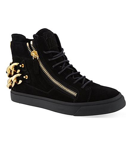 GIUSEPPE ZANOTTI Woodside hi-top sneakers (Black