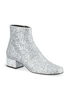 SAINT LAURENT Babies glitter ankle boots
