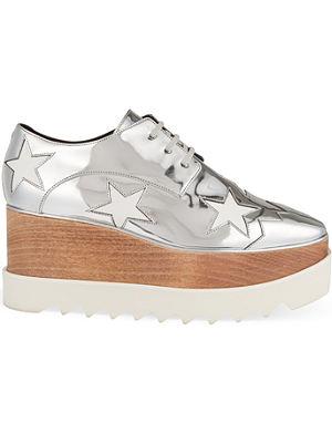 STELLA MCCARTNEY Heather flatform Derby shoes