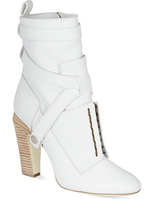FENDI Diana leather heeled ankle boots