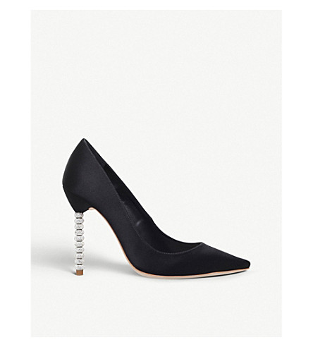SOPHIA WEBSTER Coco satin courts (Black