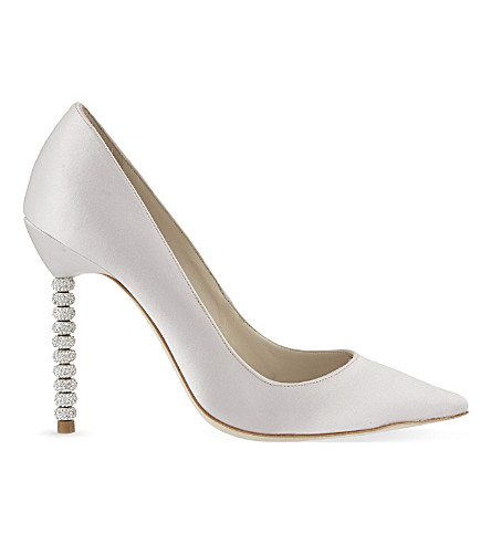 SOPHIA WEBSTER Coco crystal leather courts (Nude